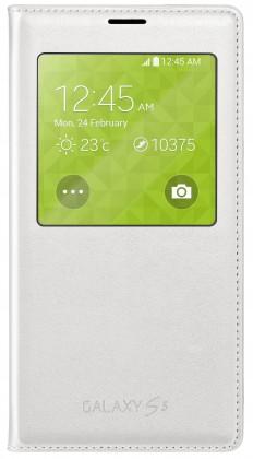 Bazár mobily, GPS Samsung púzdro S-View pre Samsung Galaxy S5, biela POUŽITÝ
