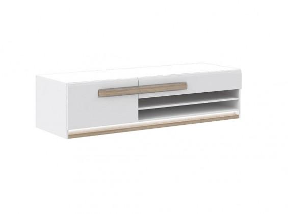 Bazár obývacie izby Attention-ATNT12LB(P50 - bílý / dub sonoma / bílý lesk)
