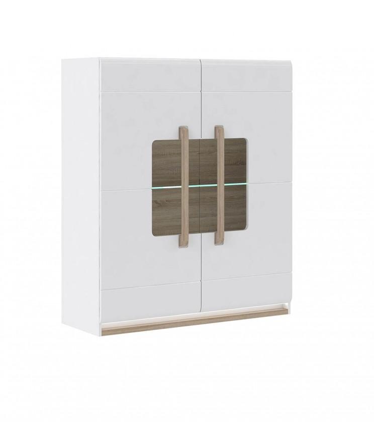 Bazár obývacie izby Attention-ATNV52B(P50 - biely / dub sonoma / biely lesk)