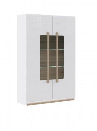 Bazár obývacie izby Attention-ATNV62B(P50 - biely / dub sonoma / biely lesk)