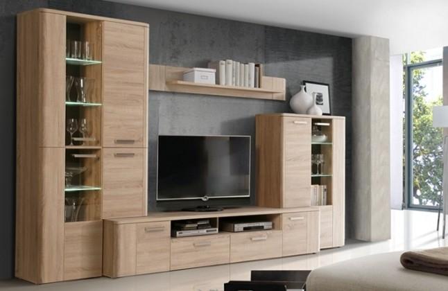 Bazár obývacie izby Belmondo BLDM01LB (Dub sonoma/Wenge)