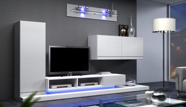 Bazár obývacie izby Blanca - Obývacia stena (biela)