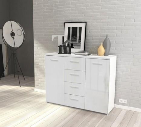 Bazár obývacie izby Crown-CRWK26(biela matná / biela lesklá)