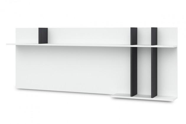 Bazár obývacie izby Denver - Typ 43 (bílá arctic LDTD / černá strukturovaná)