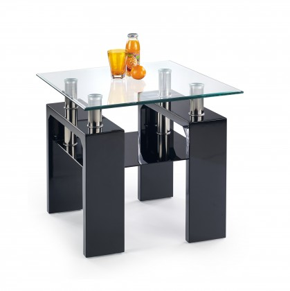 Bazár obývacie izby Diana H kwadrat - Konferenčný stolík (čierna)