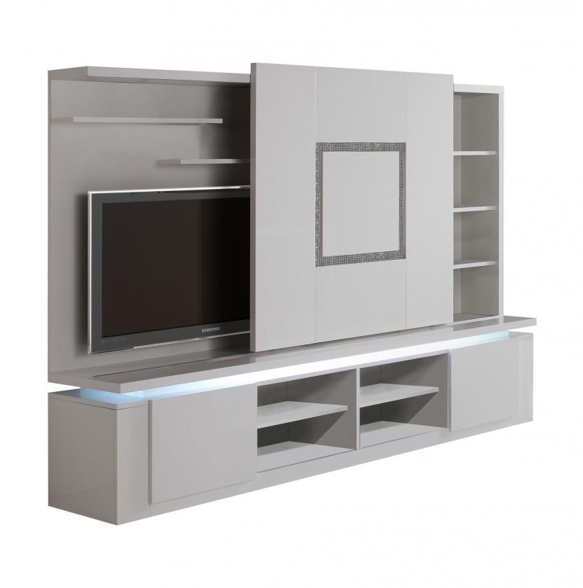 Bazár obývacie izby Diva - TV stena (biela/diamant)