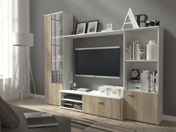 Bazár obývacie izby Hugo (biela/dub sonoma)