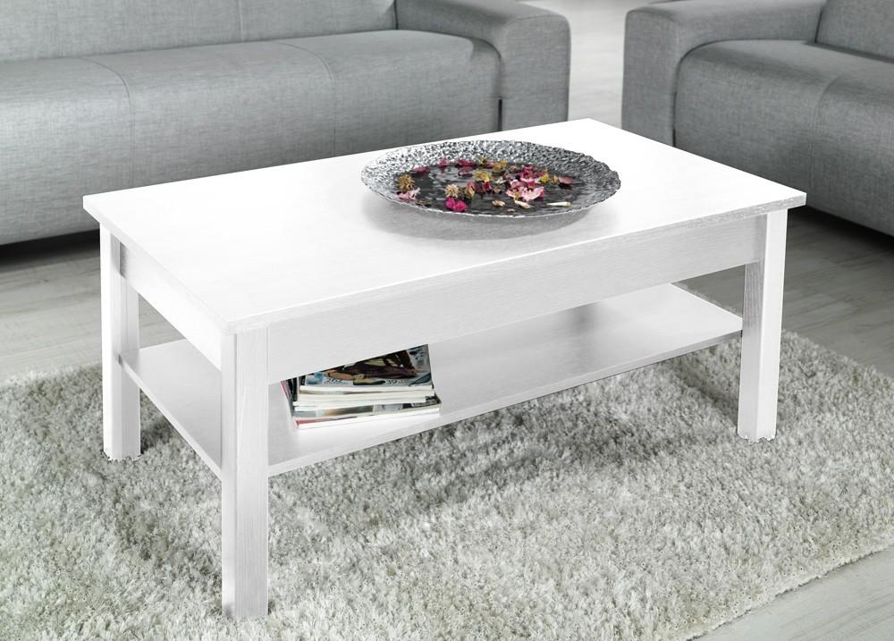 Bazár obývacie izby Lawa - Konferenčný stolík (biela)