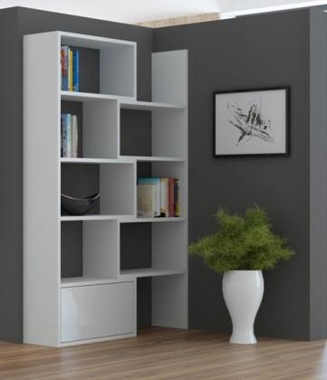 Bazár obývacie izby Paco 1 - Regál (biela)