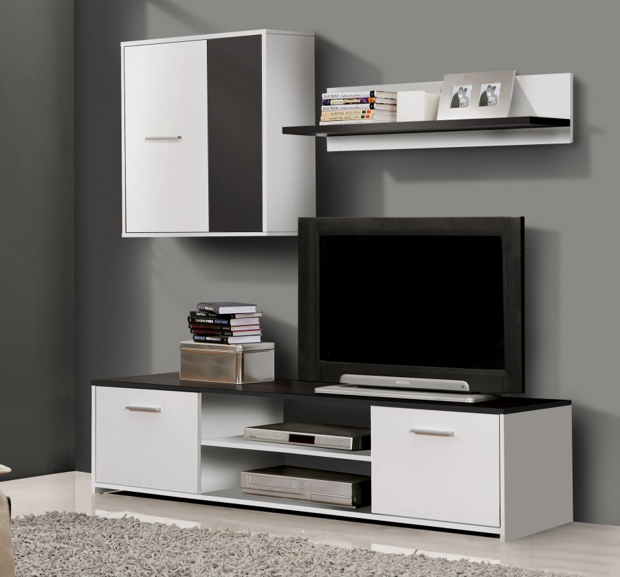Bazár obývacie izby Paco PCOM01-V05(biela/čierna)