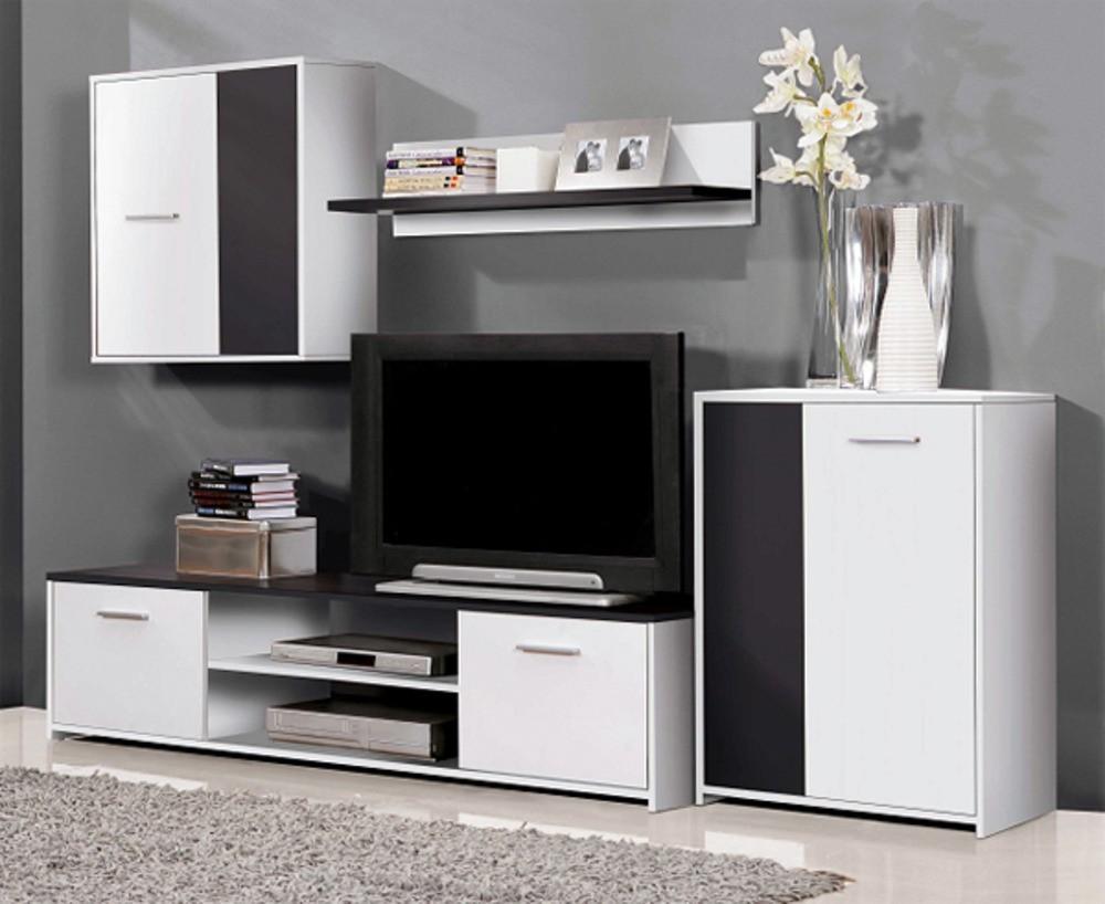Bazár obývacie izby Paco PCOM02-V05(biela/čierna)