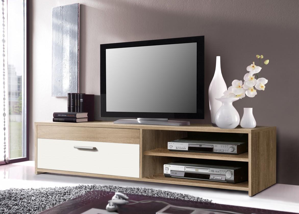 Bazár obývacie izby Paco - TV stolík PCOT11-Q45F (dub sonoma/biela)