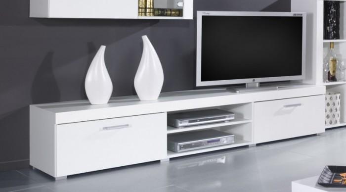 Bazár obývacie izby Samba (regal 8) biela / biela