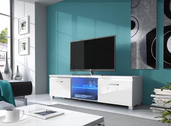 Bazár obývacie izby TV 2 - TV stolík (biela/biela)