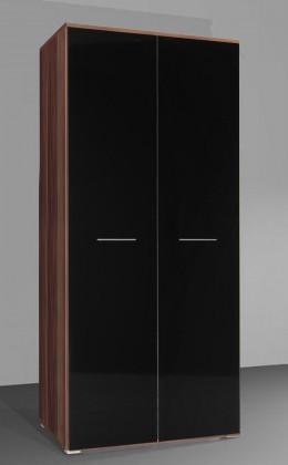 Bazár obývacie izby Uni - Skriňa univerzálná (slivka/čierna lesk)