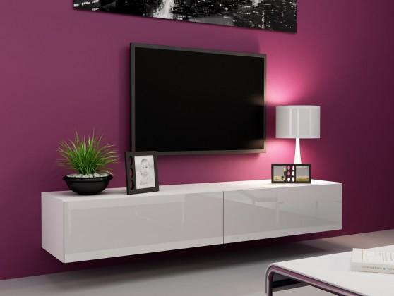 Bazár obývacie izby Vigo - TV komoda 180 (biela mat/biela VL)