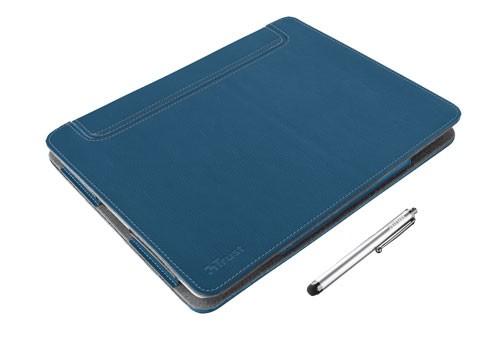 Bazár počítače, tabl Trust eLiga Elegant Folio Stand + stylus for iPad,modrá ROZBALENÉ