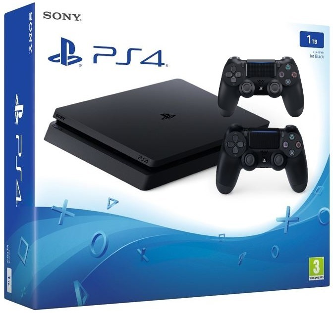 Bazár počítače, tablety Sony PlayStation 4 Slim 1TB POUŽITÝ, NEOPOTREBOVANÝ TOVAR