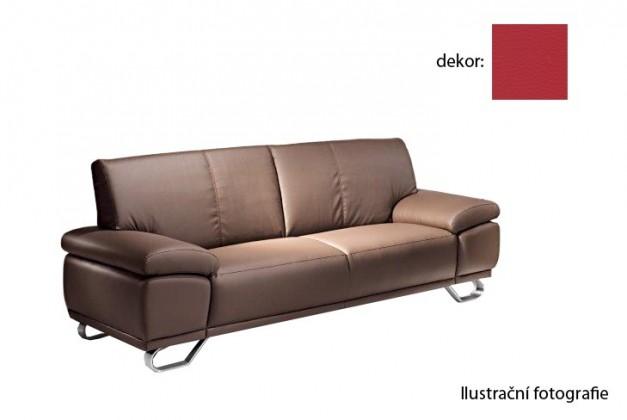 Bazár sedacie súprav Agata  -  trojsedák  (pulse - red d205, sk. 2S)