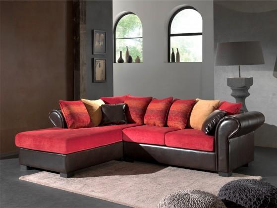 Bazár sedacie súprav Bally - Ľavá (bycast brown/dubaj 16, dubaj 04, aztec decorative)