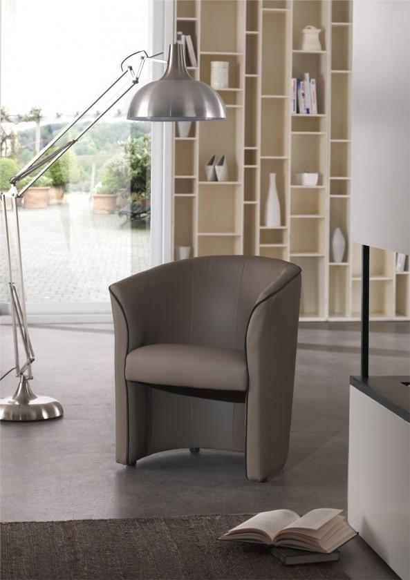 Bazár sedacie súprav Banny - Kreslo (taupe, korpus/brown, paspula, sk. BN-1)