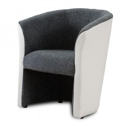 Bazár sedacie súprav Belize (hane dark grey - sedák / pvc white - korpus, sk. BZ-1)