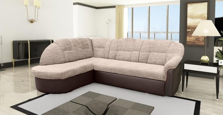 Bazár sedacie súprav Borneo - Roh ľavý (berlin č. 3/eko kůže braz)
