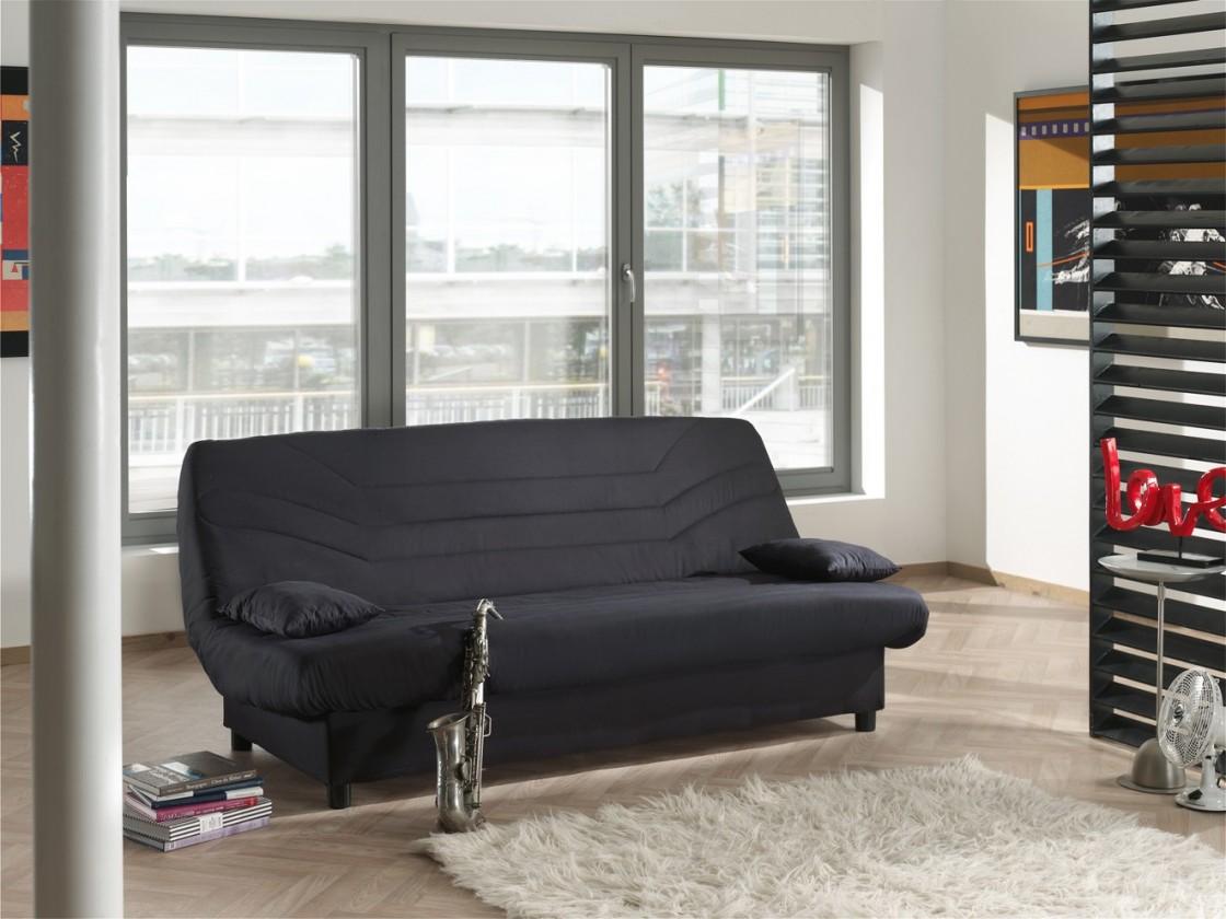 Bazár sedacie súprav Clic Clac - rozkladacie, matrace 12 cm (cotton black)