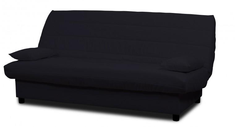Bazár sedacie súprav Clic Clac-rozkladacie,matrace 9cm (eco cotton black)