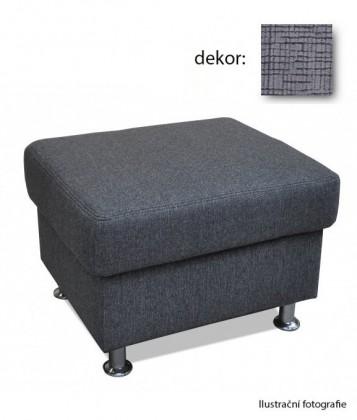 Bazár sedacie súprav Duo Panama - taburet (quantum graphite)