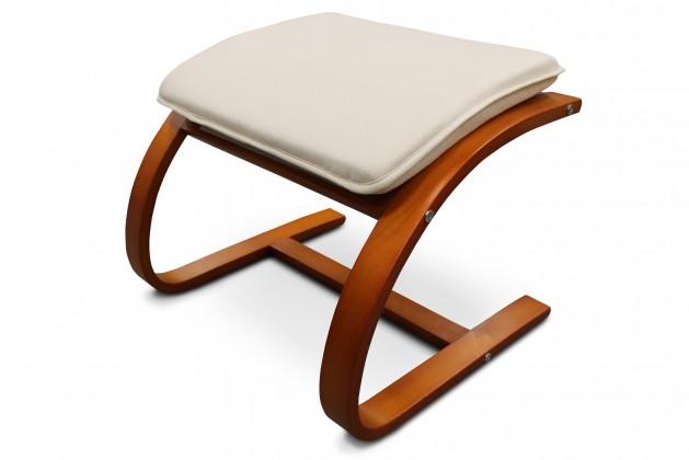 Bazár sedacie súprav Fiorato - Taburet (čerešňa/látka krémová)