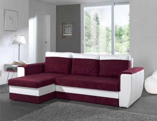 Bazár sedacie súprav Hera-univerzálny  (microfiber prune-hl.látka/pvc white-korpus)