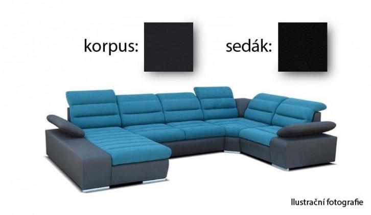 Bazár sedacie súprav Korfu II - ľavý roh, 4 + relax (korpus soft 11 / sedák aruba 19)