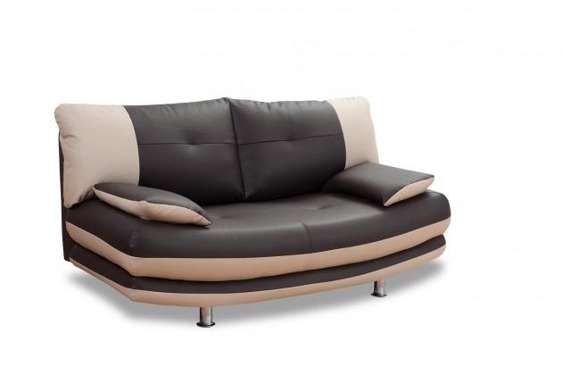 Bazár sedacie súprav Maliboo-dvojsedák (brown-hlavní látka/taupe-doplň.látka)