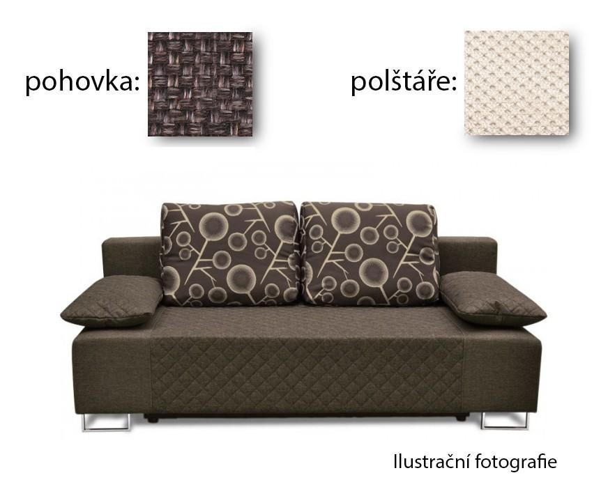 Bazár sedacie súprav Sára - Pohovka (kalinka wenge, pohovka, podrúčky/cross 21)