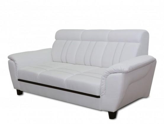 Bazár sedacie súprav Trojsedák Scala (eko koža, biela)