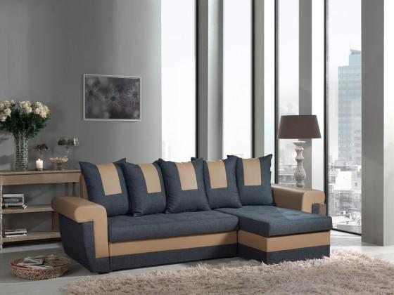Bazár sedacie súprav Tulum-univerzálny (savana grey-hl.látka/pvc taupe-dopln.látka)