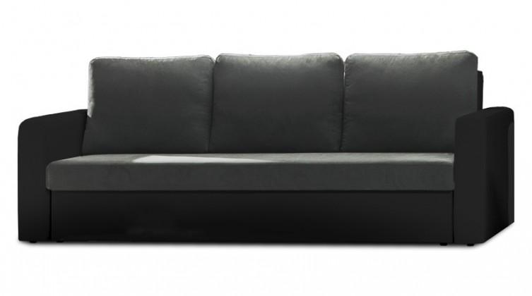 Bazár sedacie súprav Venus - Trojsedák (microfiber dark grey, sedák/pvc black,korpus)