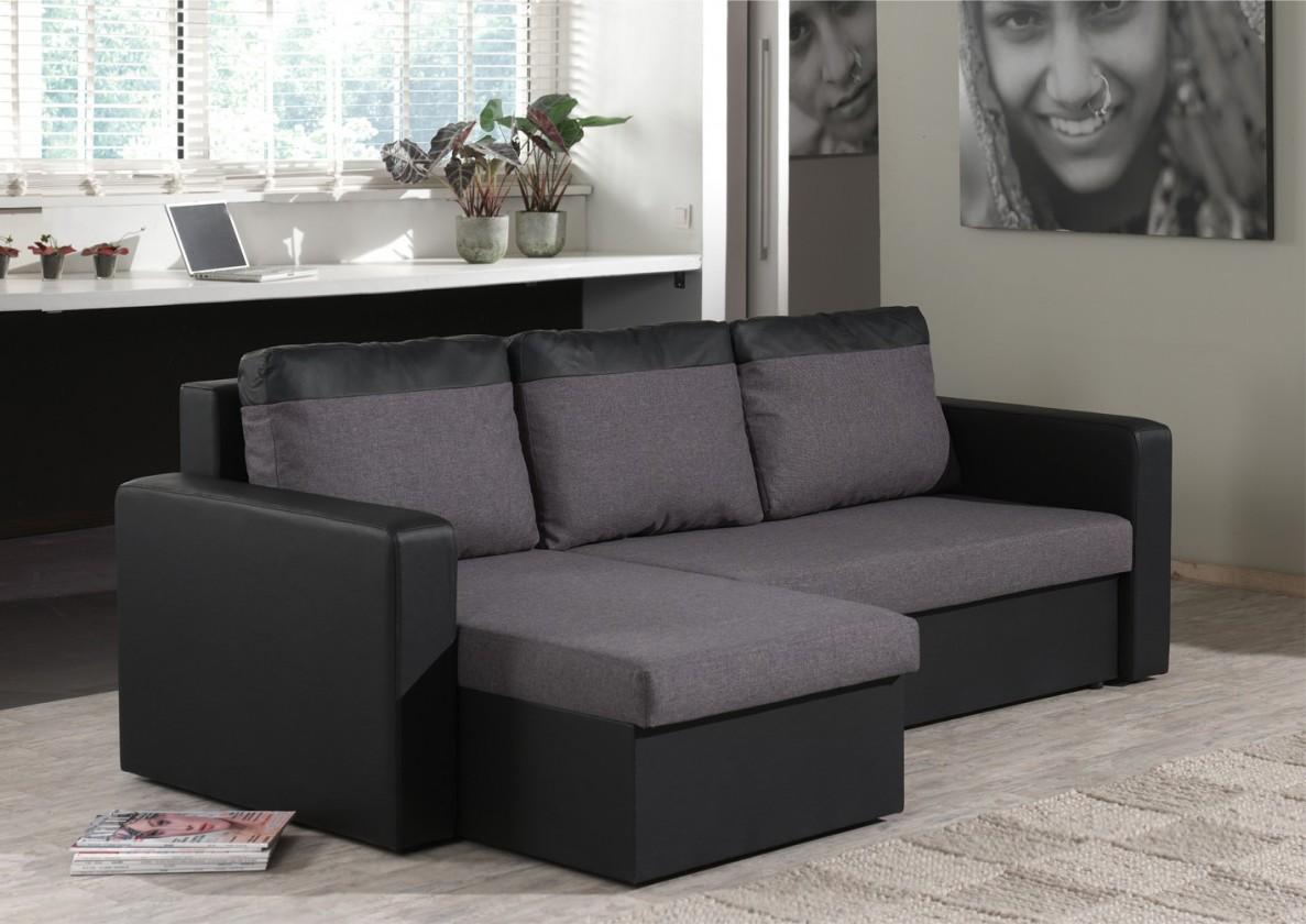 Bazár sedacie súprav Venus-univerzálny (microfiber dark grey-sedák/pvc black-korpus)