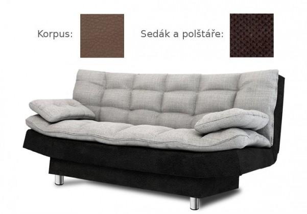Bazár sedacie súprav Wenus - Pohovka (madryt 128, korpus/doti 29, sedák, vankúše)