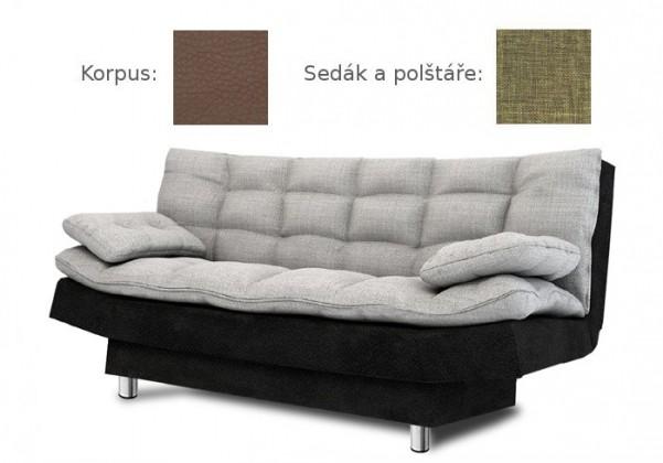 Bazár sedacie súprav Wenus (sawana 25 sk. C sedák + vankúše/madryt 128 sk. C korpus)