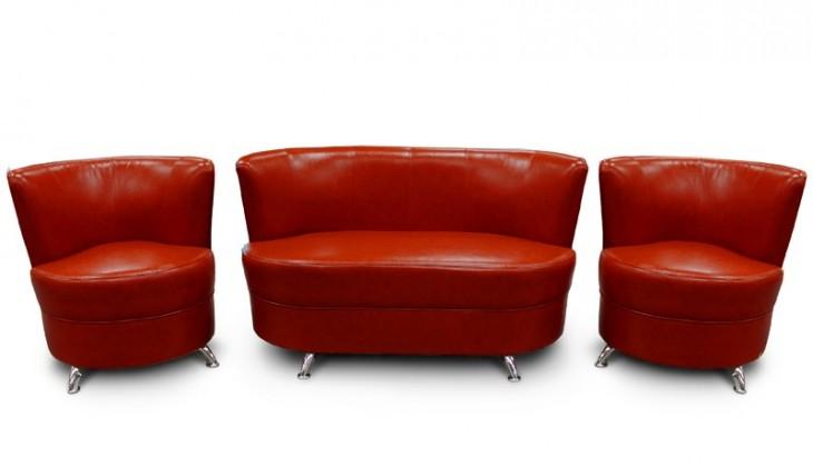 Bazár sedacie súpravy Mexico - Dvojsedák, 2x kreslo (1A169 červená)
