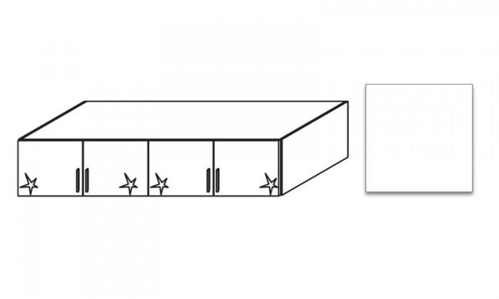 Bazár spálne Celle - Nadstavec na šatníkovú skriňu (alpská biela/biela lesk)