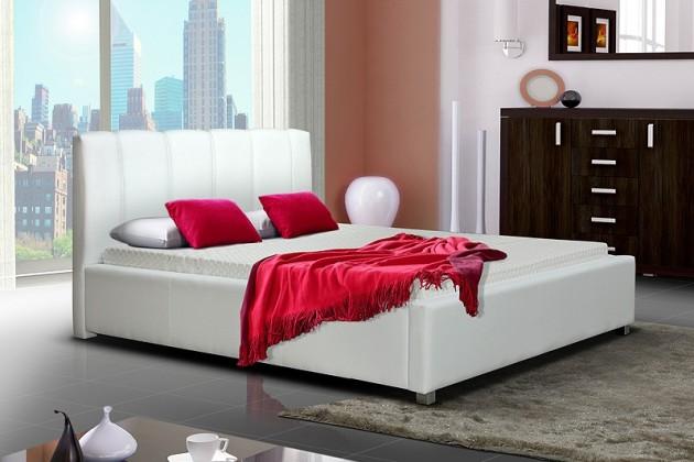 Bazár spálne Posteľ I 180x200 cm s rámom pre matrac a úložným priestorom