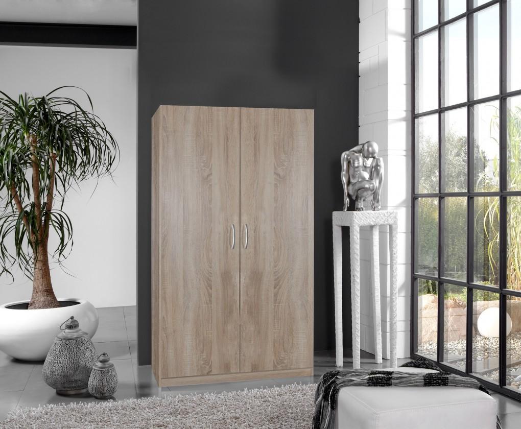 Bazár spálne Sprint - skriňa 175x90 cm,2x dvere (dub hrubá štruktúra)