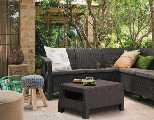 Bazár záhrada Corfu - Relax set (čierna)