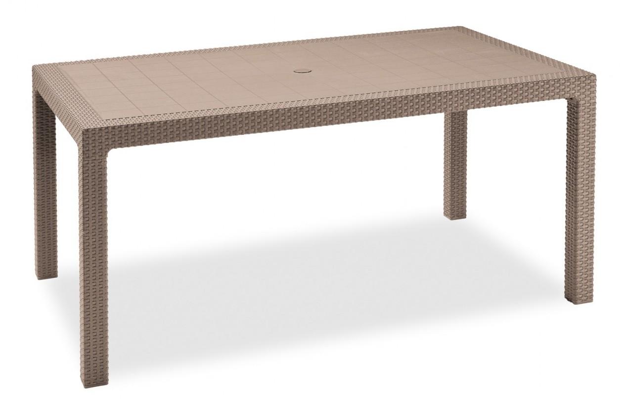 Bazár záhrada Melody - Stôl, 161 cm (cappuccino)