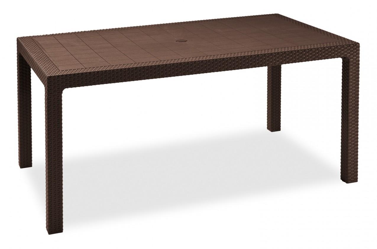 Bazár záhrada Melody - Stôl, 161 cm (hnedá)