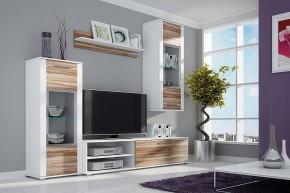 Ben II - Obývacia stena, LED (biela, korpus/ baltimor, fronty)