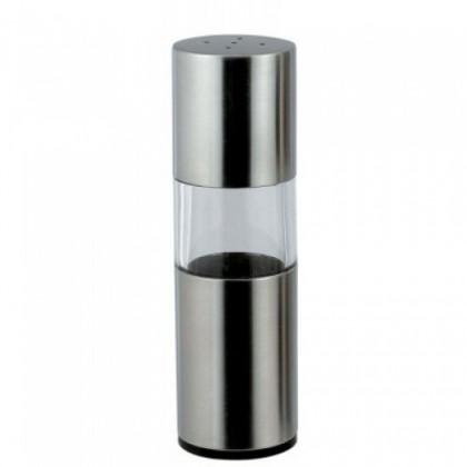 Bergner - mlynček korenie a soľ, súprava 2ks (strieborná)